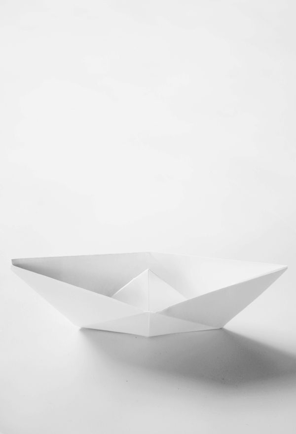 Life as a Moodboard | origami white boat