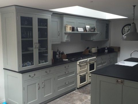 Elegant Picture Of A Bespoke Kitchen In Farrow U0026 Ball Blue. English KitchensHandmade  ...