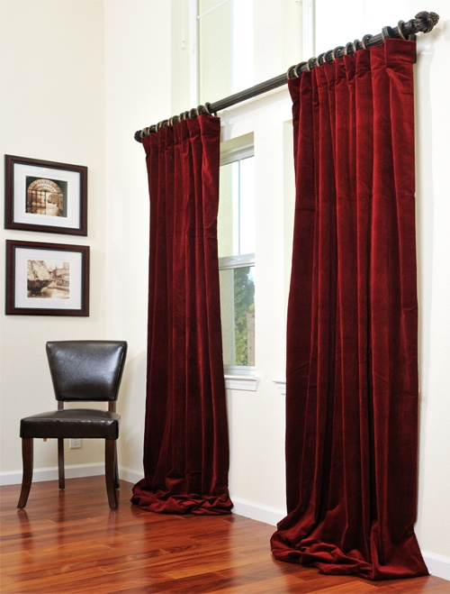 Signature Maroon Wine Velvet Drapes