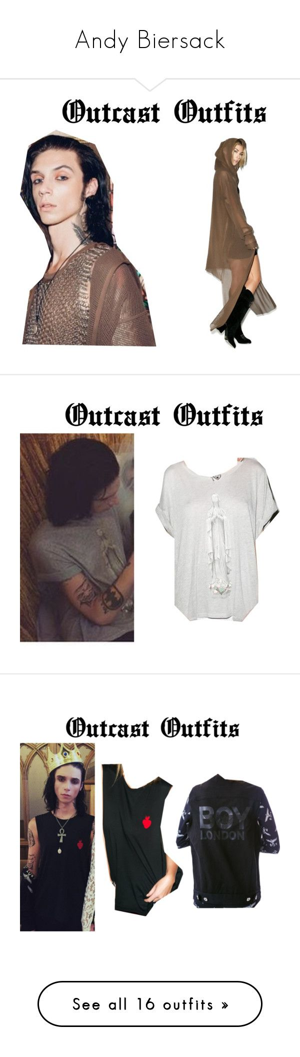 """""""Andy Biersack"""" by katiehorror ❤ liked on Polyvore featuring Lip Service, Wildfox, Beach Riot, BOY London, W.I.A, Killstar, Drifter, costumes, white costumes and white halloween costumes"""