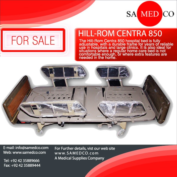 The HillRom Centra 850 hospital bed is fully adjustable