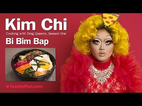 Cooking w/ Drag Queens - Kim Chi - Bi Bim Bap (Korean style mixed rice) - YouTube
