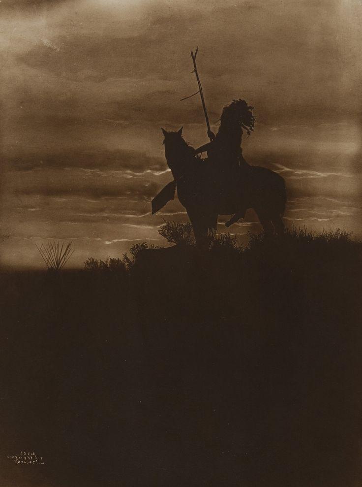 Native American on Horseback by Richard Throssel
