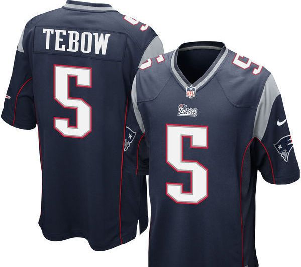 Nike Tim Tebow New England Patriots Men's Size 44 On Field Jersey - Navy Blue #Nike #NewEnglandPatriots