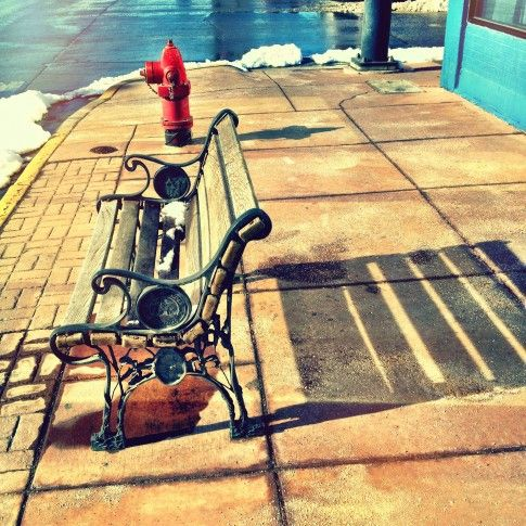 Bench & Fire Hydrant - David Schuster