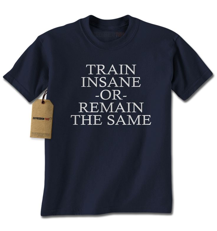 Train Insane Or Remain The Same Mens T-shirt