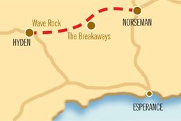 2 Days - Granite and Woodlands Discovery Trail.  The Granite and Woodlands Discovery Trail links Hyden and Wave Rock to Norseman and explores one of the world's greatest untouched temperate woodlands, with 16 designated stopping places.