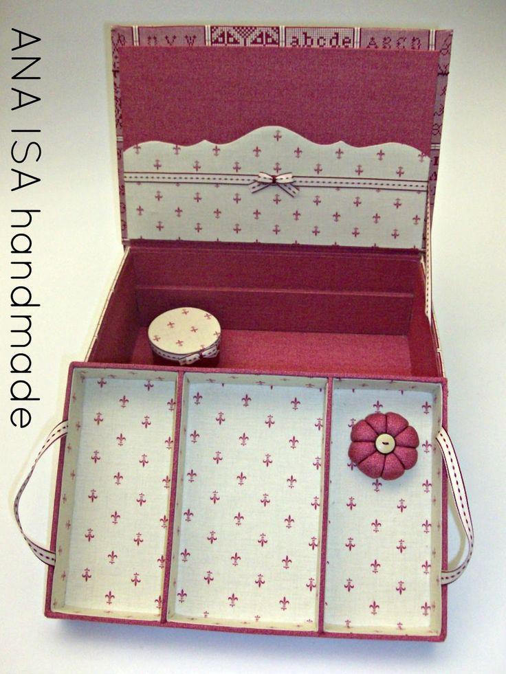 Três tecidos para uma caixa de costura XL. Um exercício interessante na combinação de padrões e que (modestamente julgamo...