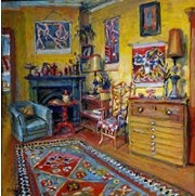 """Artist Margaret Olley: He unique oil coloured paintings always reminded me of Nan """"Eileen"""" Fahey's @ Korong Vale. Olley's vivid interiors were the inspiration of my year 12 HSC work- a painting collaboration of each room at Korong Vale"""