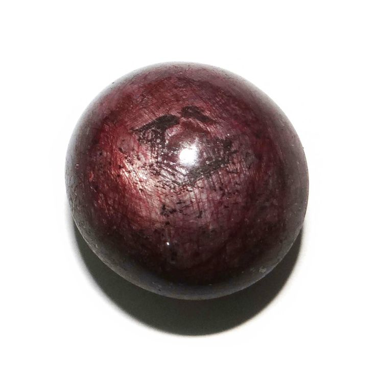 63.20Cts 100% A   Natural Red Star Ruby Stone Circle Untreated Africa Gemstone ..this is img