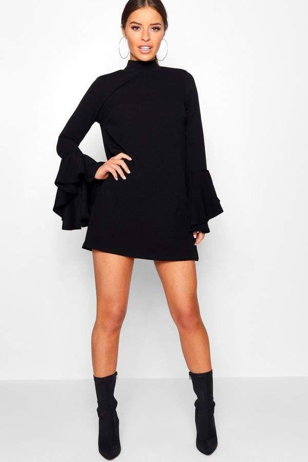0e702bacc18f Petite Flare Sleeve Shift Dress   Products