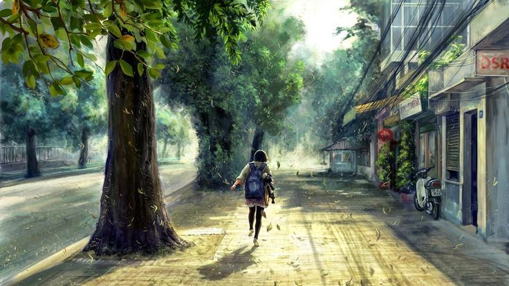 Anime Scenery Street Wallpaper HD Desktop #48929 Wallpaper