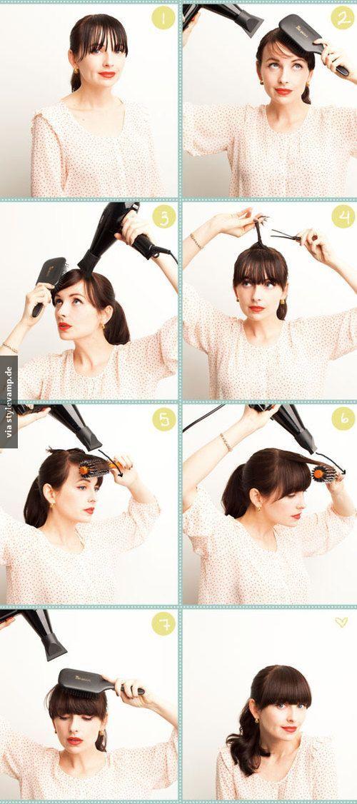 Haare richtig föhnen: So geht's!