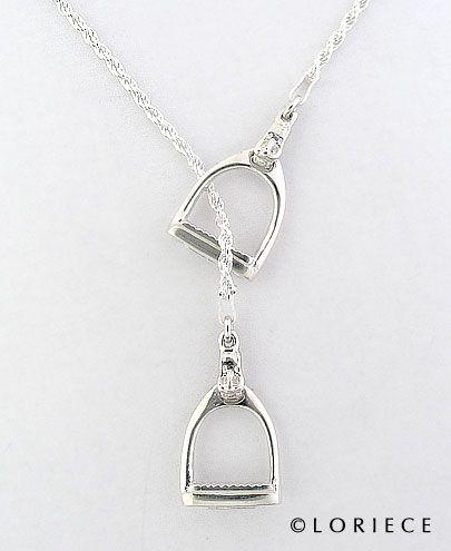 SET OF ENGLISH STIRRUPS - Equestrian Pendants and Necklaces, Horse Pendants and Necklaces | Loriece.com