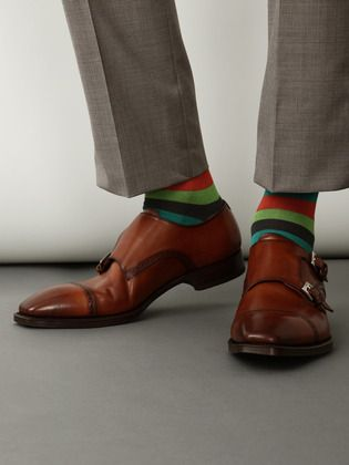 Add some funk to your suit with colorful socks!