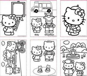 hello kitty colouring pages and cake templates