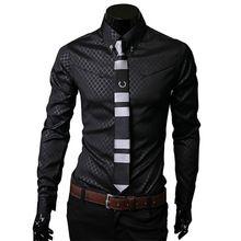Camisas Masculinas sociales nuevo Mens Fitness oscuro camisa Camisas a cuadros para hombre de manga larga camisa Formal de negocios de gran tamaño 5XL
