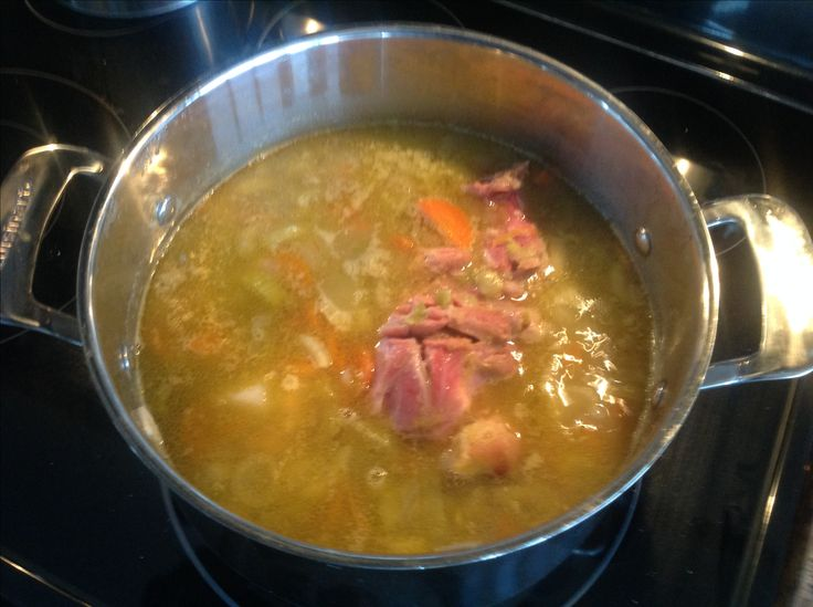 Classic Split Green Pea Soup - Always a favourite and so easy to do. When we cook a smoked ham or spiral ham or shoulder pork I take the bone with meat left on it and I drop it into a large pot. Then take 1 cup of dry split green peas and add 5 cups of water. A large bone with a lot of meat can make double. ( 2 cups peas, 10 cups water ) Add chopped onion, celery, carrots, garlic, and chunked potatoes. Bring everything to a boil and simmer, lid off, for 11/2 to 2 hrs, stirring regularly…