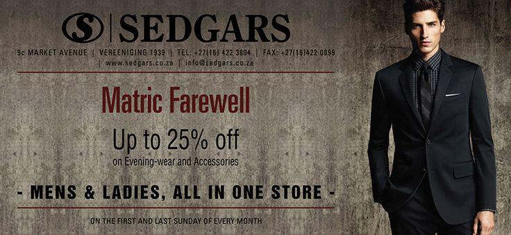Sedgars Matric Farewell Advertisement