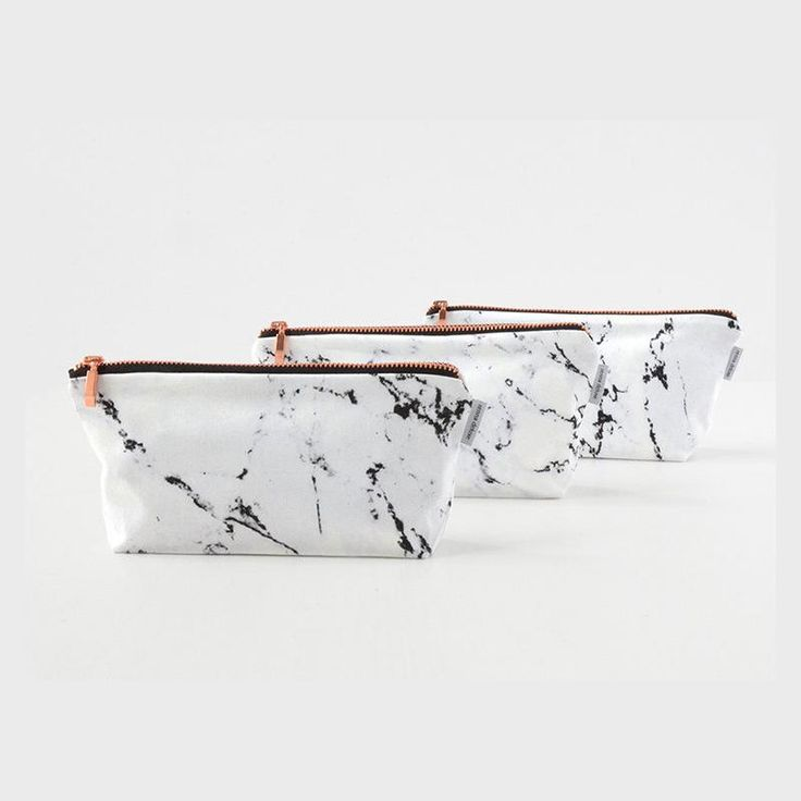 Renna Deluxe Marble & Copper Pouch Case Makeup Bag ($19.55) Pinterest: Wellness & Wanderlust