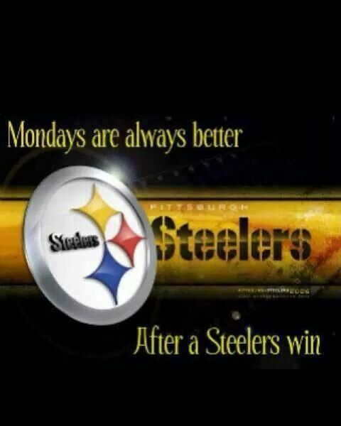 After a Steelers win!