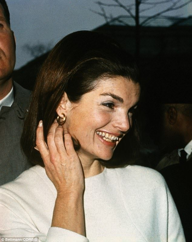 Former first lady Jackie Kennedy outside her New York City apartment after a meeting with ...