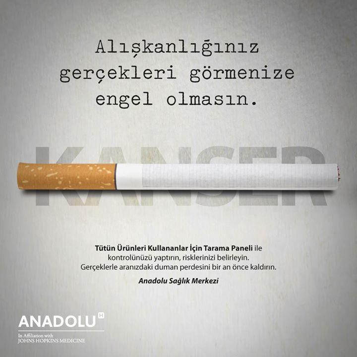 Alışkanlığınız gerçekleri görmenize engel olmasın. www.anadolusaglik.org