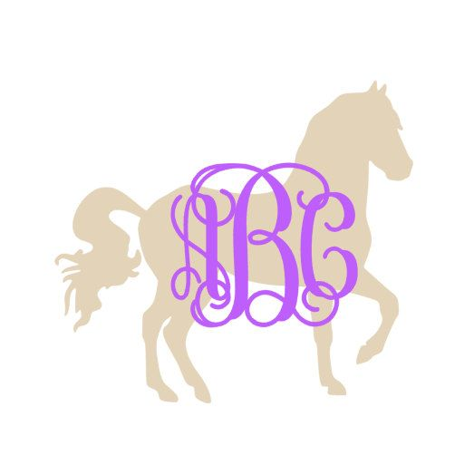 Horse Equestrian Monogram Decal For Car Laptop Cup Cell