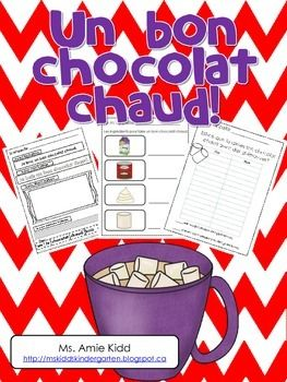 "The following document is in French. It is a 48-page ""Hot Chocolate"" unit, which focuses on necessary ingredients, procedural writing (step-by-step), classroom surveys and descriptive writing. It includes vocabulary, word wall words, wordwork sheets, suggestions for classroom collaborative books with title pages, worksheets that focus on drawing vocabulary words and labelling pictures, a procedural page, two classroom surveys and a blank booklet.**It has been updated to include 8 more…"