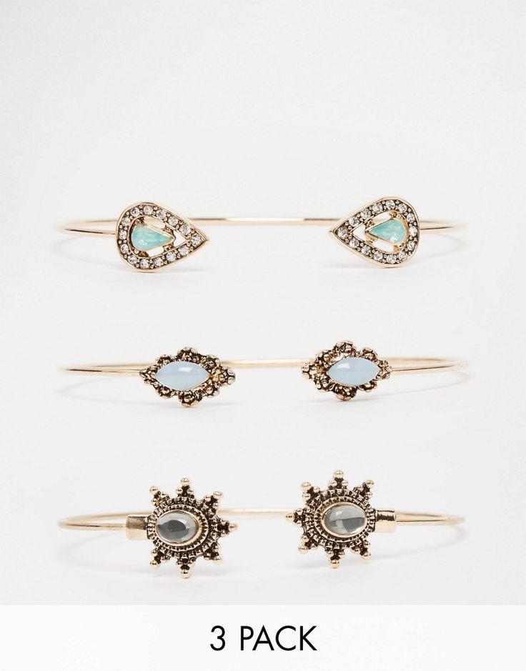 ALDO Apopa Multipack Bracelets - Gold #style #fashion #moda