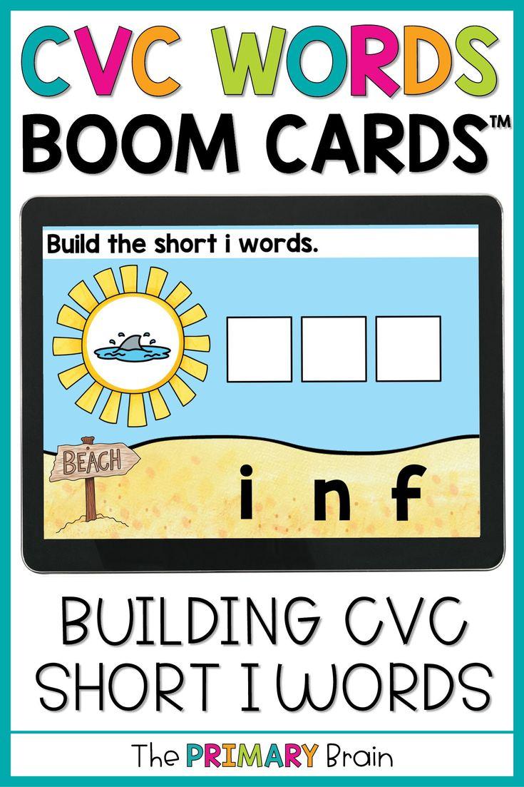 CVC Boom Cards™ Distance Learning Short I in 2020 Cvc