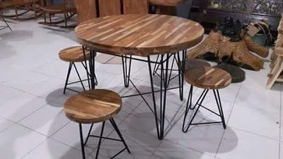 Mebel dan Furniture Jepara: Unique Raund Table Teak