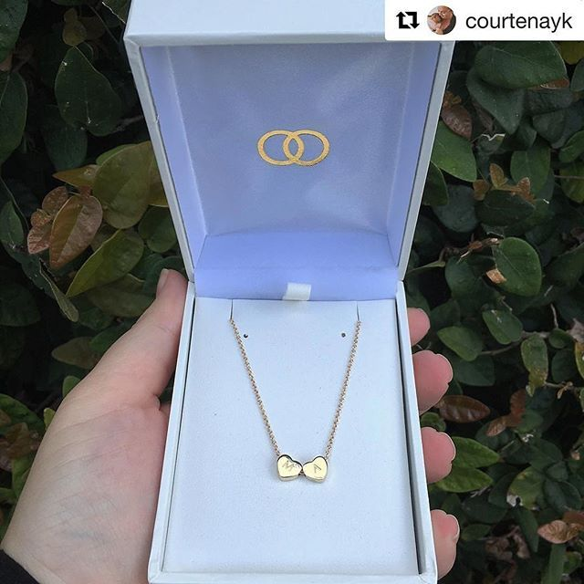 #Repost @courtenayk with @repostapp ・・・ I instantly fell in love with the new @loveloops.co.nz heart necklace, now I can carry my babies hearts with me wherever I go! 💙💗 #loveloops #pushpresent #loveheartcollection #gold #jewellery #necklace