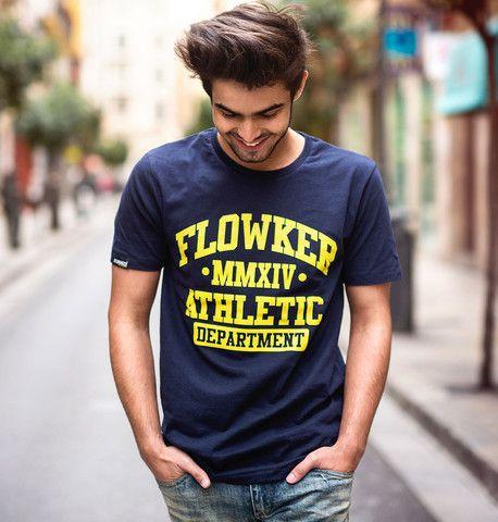 Camiseta chico Flowker Athletic Department en marino 1
