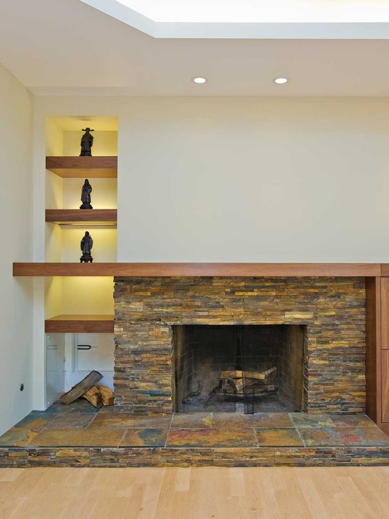 Gut Family Room Stone Fireplace Mantel Design, Pictures, Remodel, Decor And  Ideas   Page