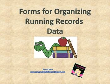 Free Classroom and Student Forms for Organizing Running Records DataRecords Data, Running Records, Schools Stuff, Assessment Form, Anecdotal Records, Free Classroom, Anecdotal Assessment, Classroom Ideas, Classroom Organic
