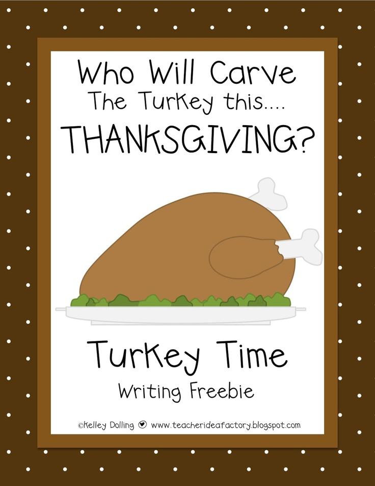 Thanksgiving Turkey - Writing Activity