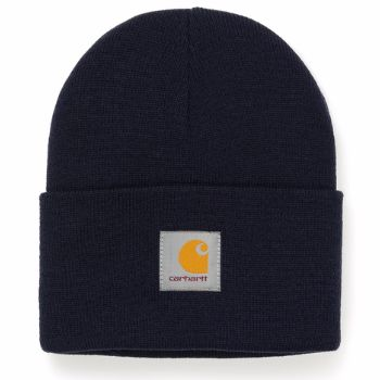 Carhartt WIP Watch Hat Beanie (Navy): The famous watch hat beanie from American heritage workwear brand, Carhartt. One size fits all and constructed from a flexible rib knit fabric.