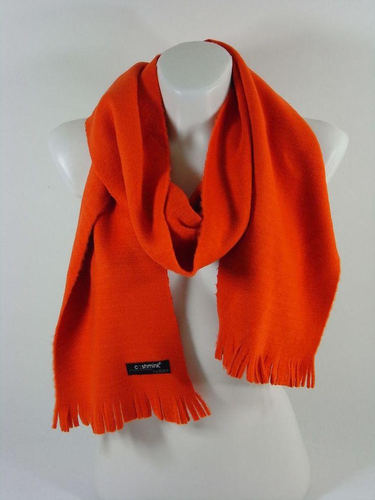 Damenschal orange warm Cashmink Accessoire Herbst Winter Weihnachten Schal Scarf