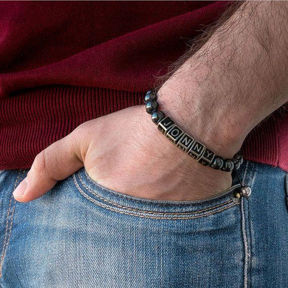 Bracelet personnalisé pour hommes par ShakaShakaJewelry sur Etsy