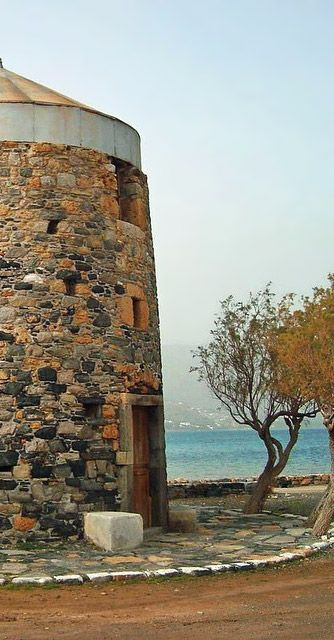 Windmills! Don Quichotte's big obsession and one of Elounda's amazing sights -Crete-