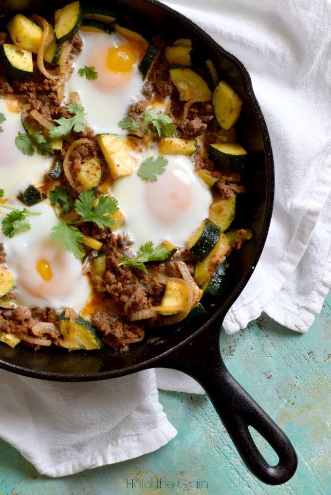Quick paleo dinner: 15-minute zucchini beef skillet.
