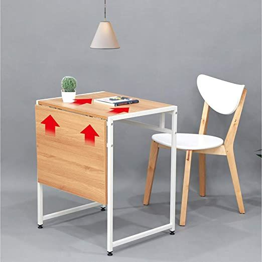 Vimele Folding Dining Table Modern Minimalist 2 Person Double Small Dining Table Multifunctional Folding Telescopic Table Square Dining Table Color White V 2020 G