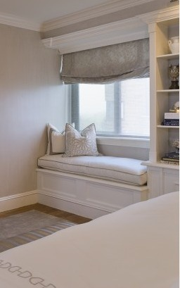 Love the windowseat! And the shelving next to it!