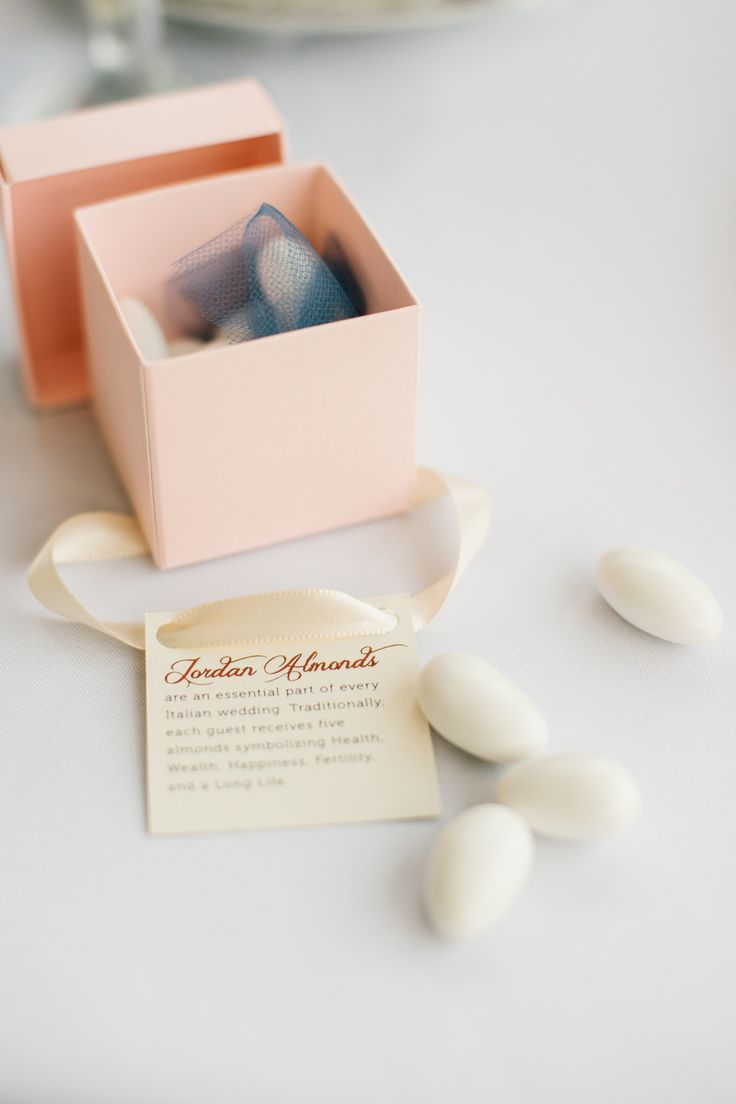 All About Jordan Almonds Wedding Favors | Photo by: Riverland Studios | TheKnot.com