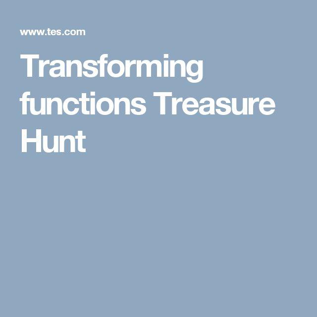 Transforming functions Treasure Hunt