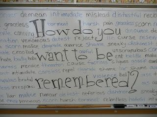 Erasing meanness in students. Powerful. I'd like to try something similar with my High School students.