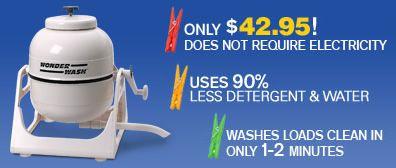 cost saving portable washing machine