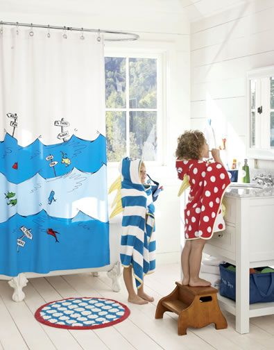 One Fish, Two Fish, Red Fish, Blue Fish U2014 Dr. Seuss Shower Curtain From  Pottery Barn Kids Part 72