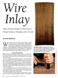 How to Wire Inlay in wood.